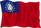 Myanmar bayrağı — Stok Vektör