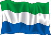 塞拉利昂的旗子 — 图库矢量图片