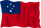 Samoas flagga — Stockvektor