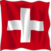 Švýcarská vlajka — Stock vektor