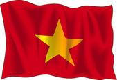 Vietnam flagga — Stockvektor