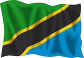 Tanzanias flagga — Stockvektor