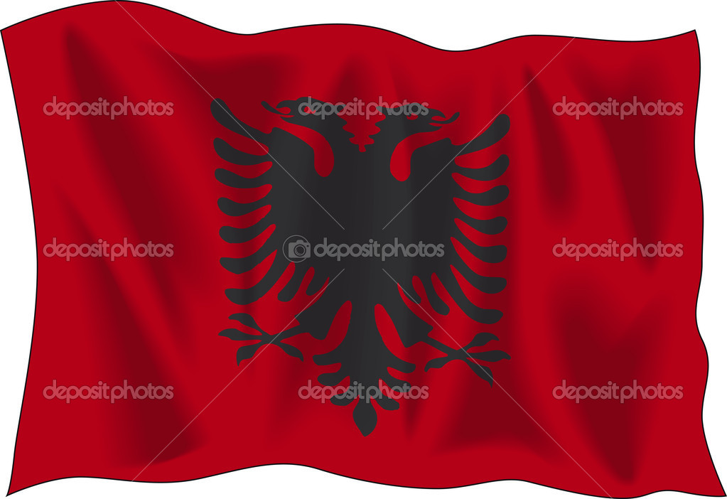 Albanian Flag Waving Waving Flag of Albania