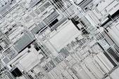 Inside Microprocessor Architecture — Stock Photo