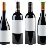 Wine Bottles Template — Stock Photo