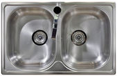 Kitchen Sink Cutout — Stock Photo