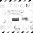 Rubber Stamps on Envelope — Stock Photo
