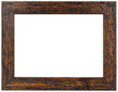 Old Brown Wooden Frame Cutout — Stock Photo