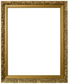 Golden Picture Frame Cutout — 图库照片