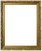 Gouden foto frame knipsel — Stockfoto