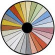 Stockfoto: Facade Color Swatch Cutout