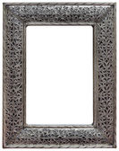 Pewter Mirror Frame Cutout — Stock Photo