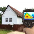 Thermal Image of the Old House — Foto de Stock
