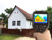 Thermal Image of the Old House — Stock Photo