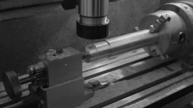 Metal Milling Machine — Stock Video