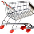 Supermarket Pushcart Cutout — Stock Photo