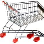 Supermarket Pushcart Cutout — Stock Photo