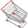 Empty Shopping Trolley Cutout — Stock Photo