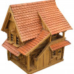 Wooden Chalet Cutout — Stock Photo