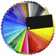 color swatch cutout — Stock Photo