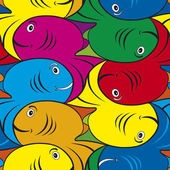 Tessellated Fish Pattern — Stock Vector