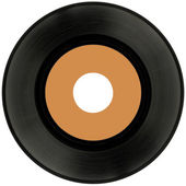 Vinyl Record Cutout — Stock Photo