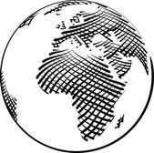 Esboço simples do mundo — Vetor de Stock