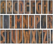 Wooden Letters Cutout — Stock Photo