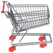 Shopping Trolley Cutout — Stock Photo