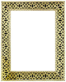 Golden Mirror Frame Cutout — Stock Photo