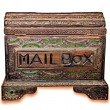 The Old wooden mail box isolated on white background — Stock Photo #10593696