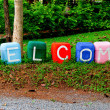The Colorful of welcome text — Stock Photo #11514300