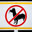 No dog allowed sign — Stock Photo #12656003