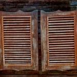 Old Western swinging saloon wooden doors — Stock Photo #12656203