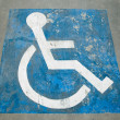 The Sign of public restroom for handicapped — Stock Photo