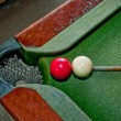 Two balls on snooker table — Stock Photo #12658153
