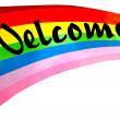 Colorful of welcome — Stock Photo