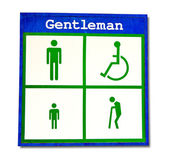 The Lightbox restroom of gentleman isolated on white background — Stock Photo
