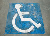The Sign of public restroom for handicapped — Stockfoto