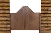 Old Western swinging saloon wooden doors — Stock Photo