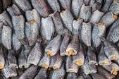 在市场中的鱼干 — 图库照片