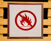 Sign no fire — Stock Photo