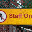 Staff only sign — Stock Photo