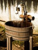 Washbasin wood — Stock Photo