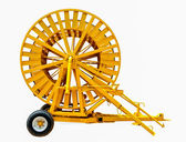 Old Spinning straw machine isolated on white background — Stock Photo