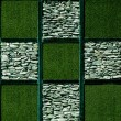 Stock Photo: Abstract of artificial grass with stone