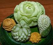 Closeup Carving fruit — Stock Photo