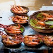 Stock Photo: Grilled shrimp ready to eat
