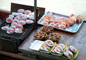 Grilled scallop ready to eat — Stok fotoğraf