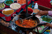 The Favorite stir fried noodle thai style is name Pad Thai — Stock Photo